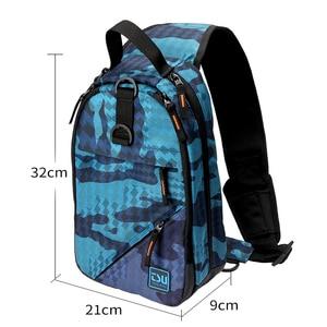 Image 3 - TSURINOYA Angeln Tasche Multifunktionale Wasserdichte Outdoor 750D Nylon 32*21*9cm Angeln Getriebe Rucksack Mochila De Pesca sac Peche
