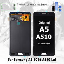 Лучший оригинальный AMOLED Дисплей ЖК-дисплей для Samsung Galaxy A5 2016 A510 A510F A510M A510M/DS A510Y ЖК-дисплей сенсорный экран планшета сборки