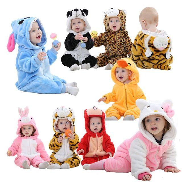Детский костюм комбинезоны с животными пижамы унисекс Одежда для маленьких мальчиков и девочек милый комбинезон с пандой для новорожденных roupa de bebe navidad macacao