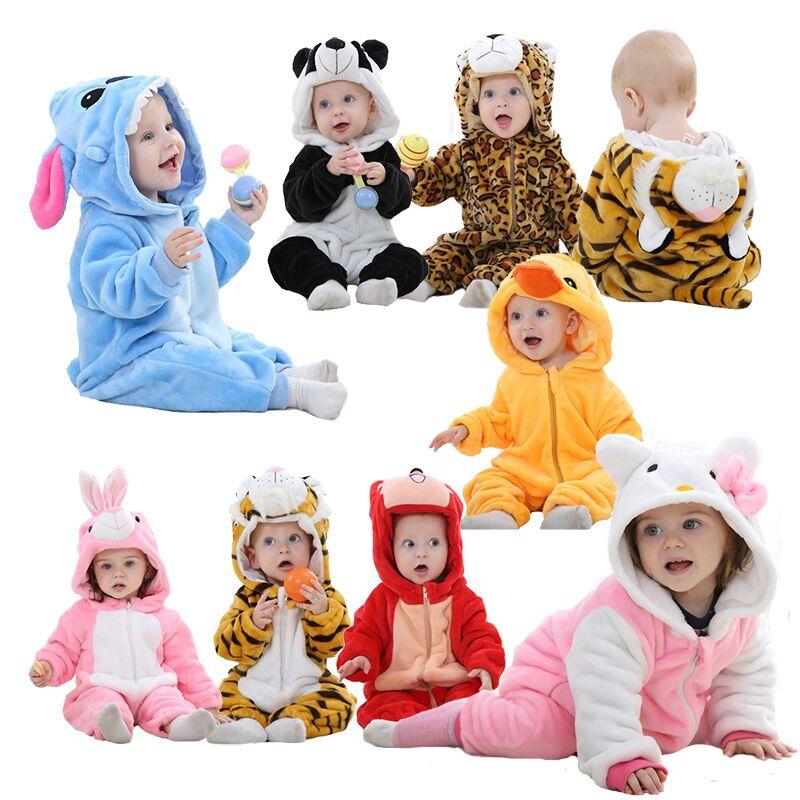 Traje animal bebê rompers unisex pijama bebê meninos meninas roupas panda bonito macacão recém-nascidos Macacão roupa de bebe de navidad