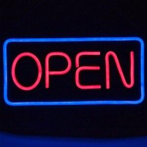 Image 2 - فتح LED ضوء النيون تسجيل ، 50 سنتيمتر ، النيون أنبوب نمط فتح علامات ، RB رسالة نافذة عرض ضوء ، بار ، مطعم ، مخزن ، صالون