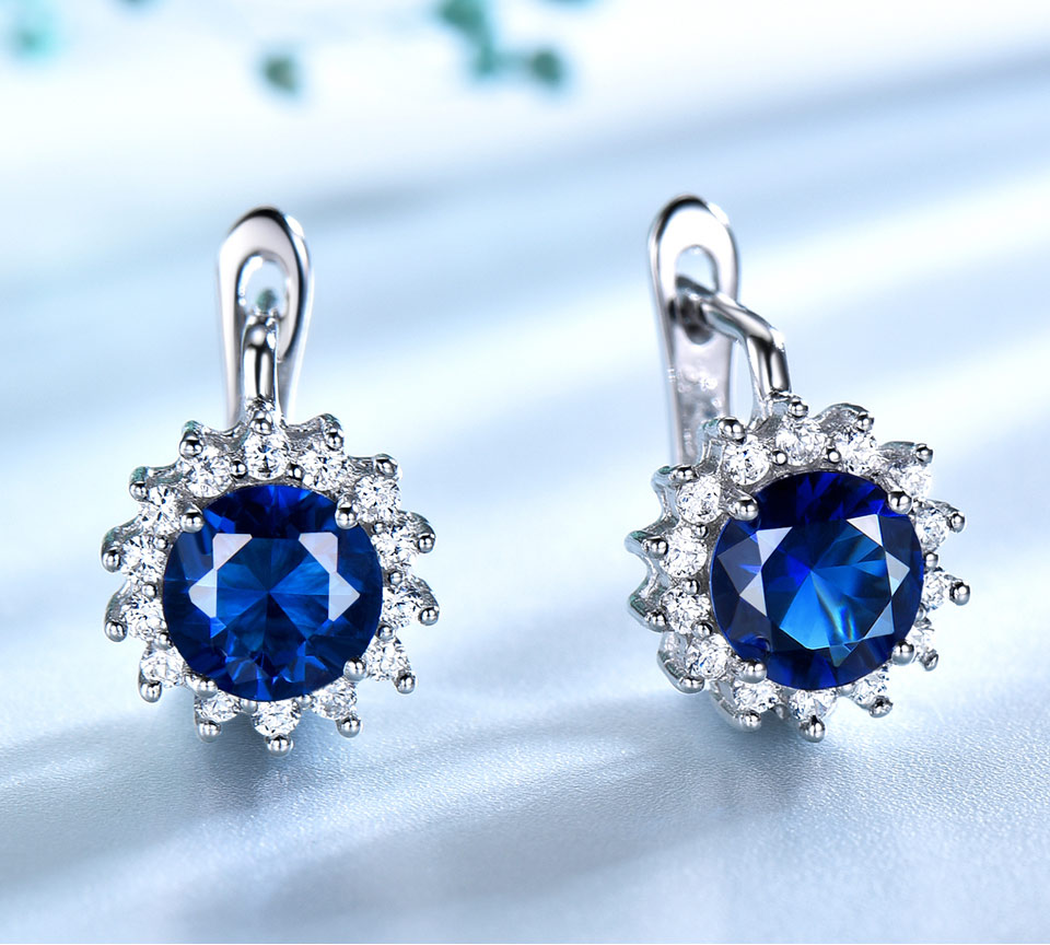 UMCHO Sapphire 925 sterling silver jewelry set for women S020S-1 (3)
