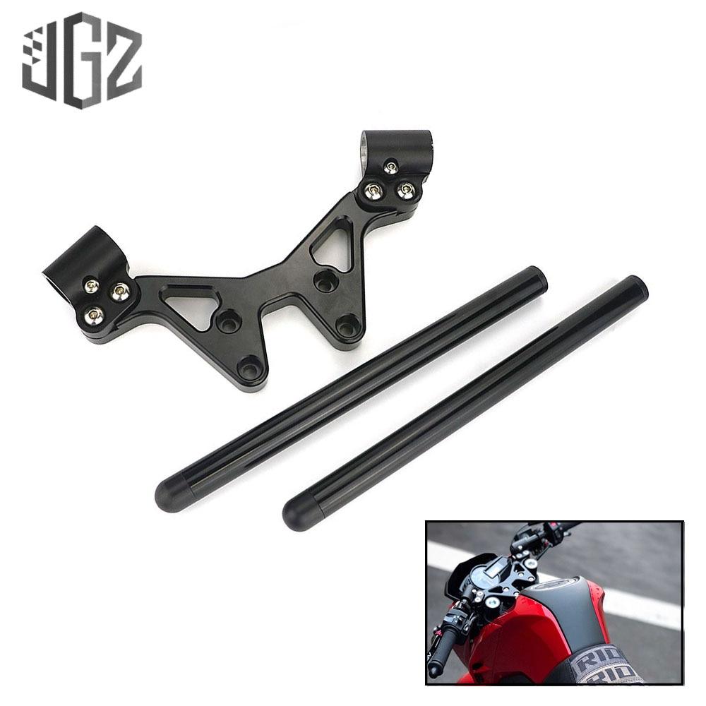 for Honda Z125 Black Faucet Handlebar Assembly Motorcycle CNC Aluminum Handle Bar System 2013 2014 2015