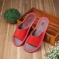 2017 New Summer Couple's Genuine Leathe Slipper Soft and Comfortable House Slippers Anti-Slip Home Shoes for Men and Women