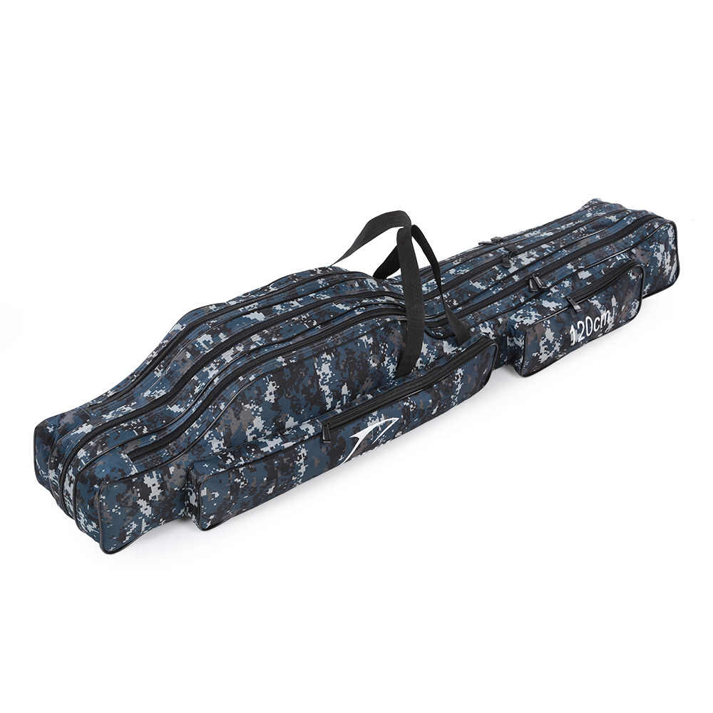 120cm / 130cm / 150cm Portable Fishing Bags Folding Fishing Rod Case Fishing Gear Tackle Bag Carrier Canvas Pole Storage Bag