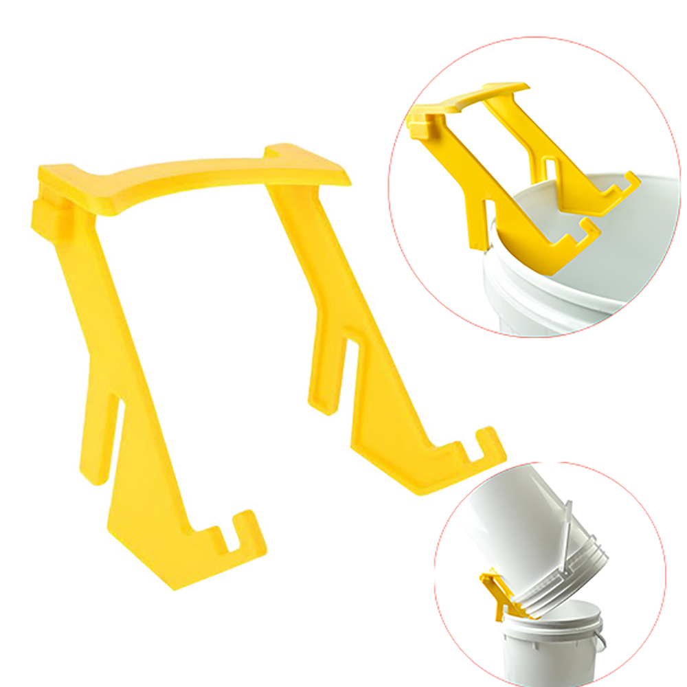 1PCS Honey Bees Bottle Bucket Clip Bracket Plastic Holder Lift Stand Support Beekeepers Tools Bee Keeping Accessories Apiculture