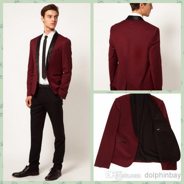 High Quality Red Wine Mens Suit Prom-Buy Cheap Red Wine Mens Suit ...