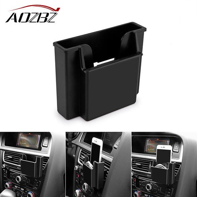 AOZBZ Car Air Vent Organizer Phone Holder Storage Box Wall Hanging Box for Phone Headphones Card Auto Accessories Car-styling