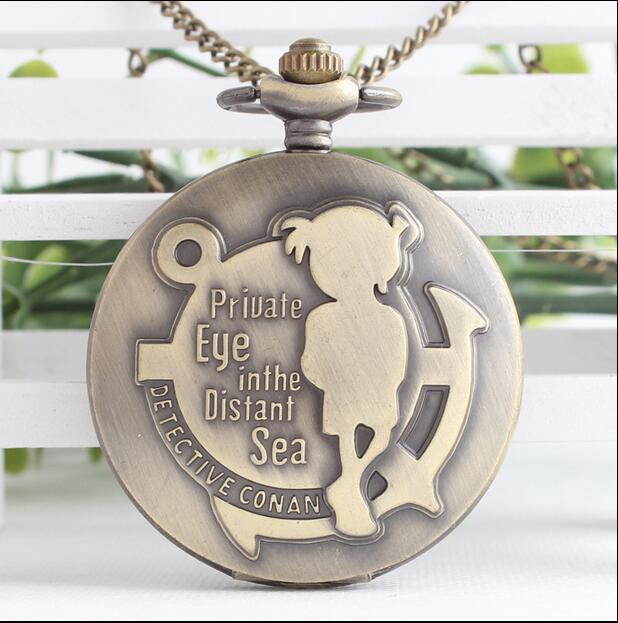 Detective conan Animation cartoon students pendant gift Fashion quartz Necklace