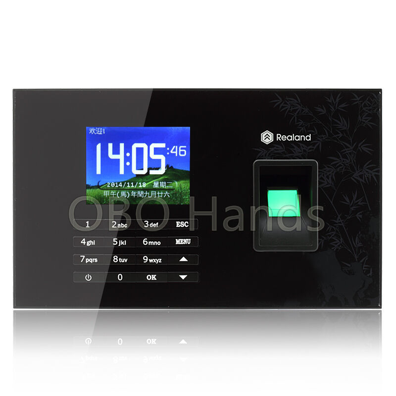 Realand TCP/IP USB RFID card Biometrics Fingerprint time clock recorder And Touch Screen Employee time attendance system A-C051 facial fingerprint employee time attendance zk uf100 tcp ip face time attendance system with free software in stock fast deliver