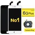 10 unids alibaba china highscreen pantalla lcd para iphone 6 plus lcd pantalla táctil de cristal digitalizador asamblea + aaa lcd + cámara titular