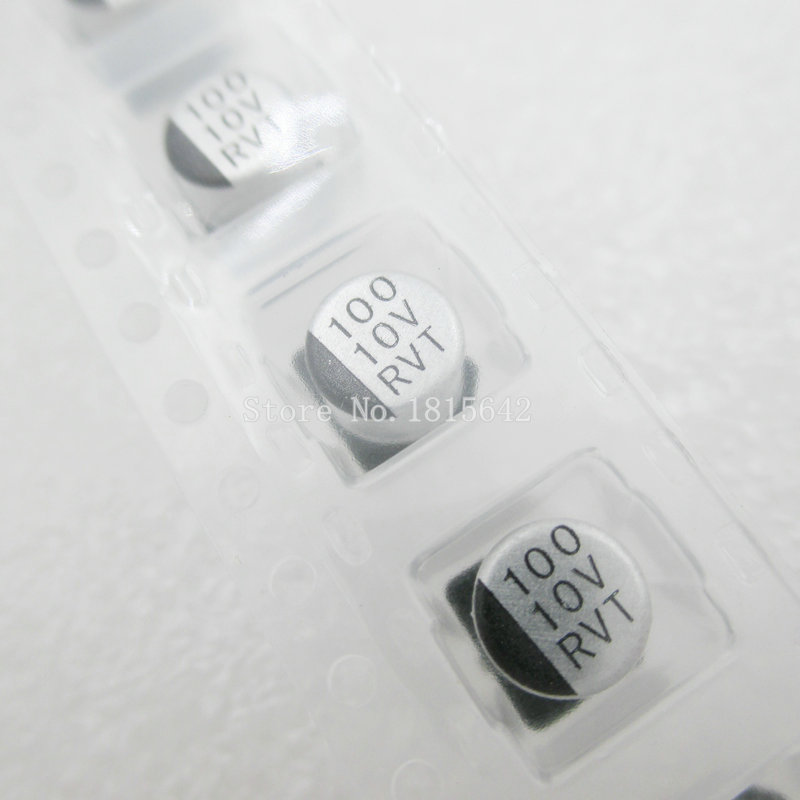 20PCS/LOT <font><b>100UF</b></font> <font><b>10V</b></font> 6.3mm*5.4mm SMD Electrolytic Capacitor <font><b>10v</b></font> <font><b>100uf</b></font> image