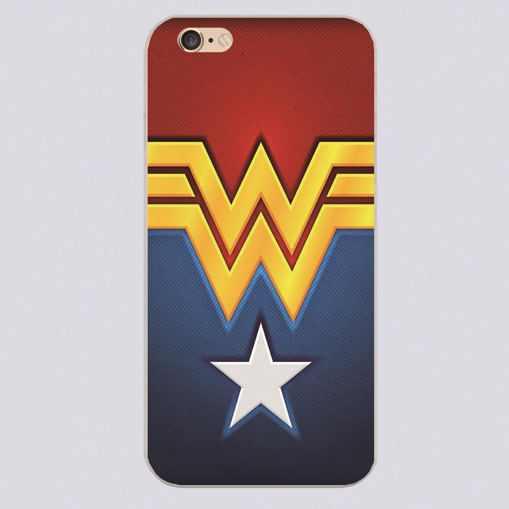 New Arrived Wonder Woman Wallpaper Design White Skin Case Cover