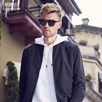 Enjeolon brand spring Bomber  jackets coat men black solid 3XL Mens jcaket coats concise jacket coat male JK627
