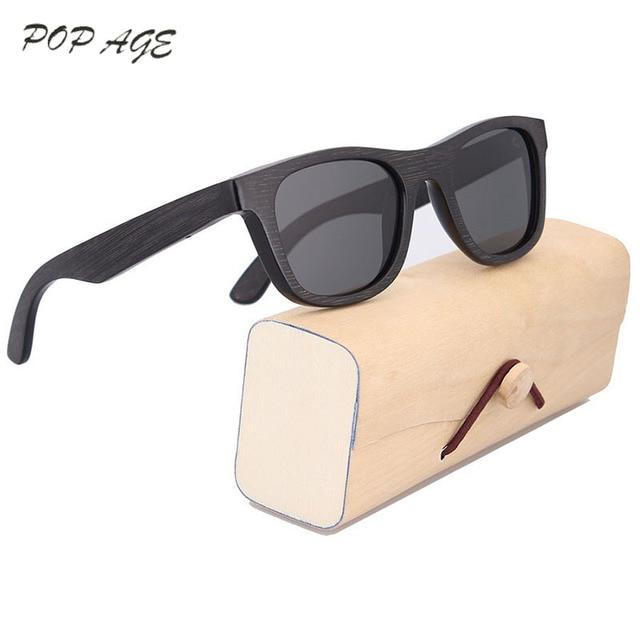 f17b053f3dfb4 Wooden Bamboo Sunglasses Black Women Polarized Sunglass Polaroid Oculos de  sol Masculino Original Eyewear Sun Glasses