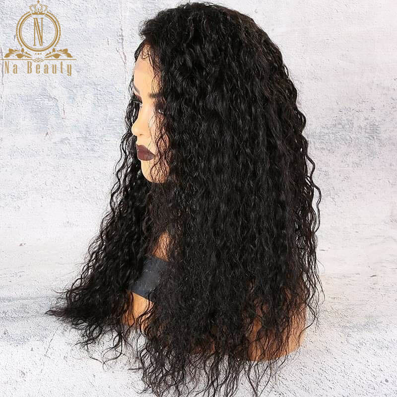 Image 3 - 180 250 Density 13x6 Lace Curly Lace Front Human Hair Wigs For Women PrePlucked Brazilian Hair Wigs Nabeauty Hair Wig-in Human Hair Lace Wigs from Hair Extensions & Wigs