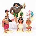 6 pçs/set Princesa Boneca Moana Maui Chefe Tui Tala Heihei Pua Figura de Ação Brinquedo Brinquedos Para As Crianças Natal Ano Novo presente