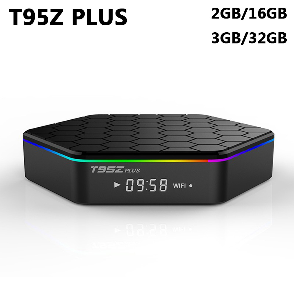 Smart Android 7.1 TV Box T95Z Plus 3GB 32GB Amlogic S912 Octa Core 2.4G/5GHz WiFi Bluetooth Media Player 4K HD H.265 Set Top Box ks luxury automatic self wind date day 24 hours black 3 dial steel strap mechanical wrist watches mens gents timepieces ks307