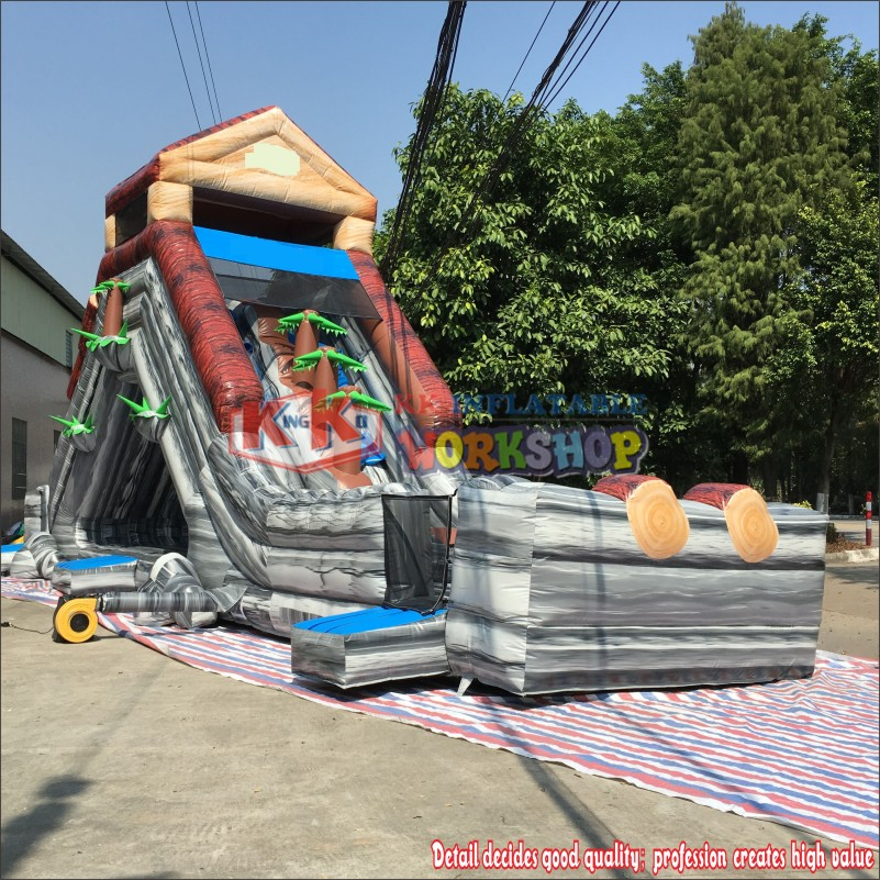 Raging Rapids Xtreme Inflatable Water Slide: Wild Rapids Inflatable Dry Slide Party Rental Inflatable