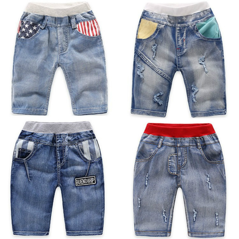 2018 Summer Children'S Clothes Boys Shorts Causal Blue Color Baby Boy Jean Shorts For Boys Big Kids Summer Denim Shorts retro design summer men jeans shorts summer style black color destroyed ripped jeans men shorts white wash stretch denim shorts