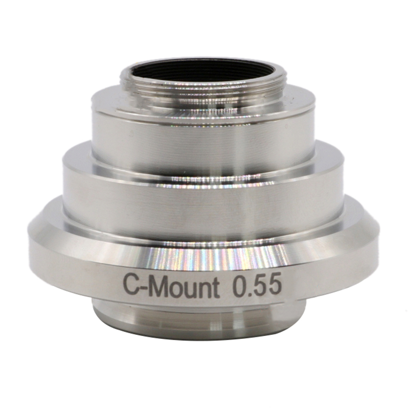 0.55X Microscope C Mount C-Mount CMOS CCD Camera Adapter Port Reducing Relay Lens for Leica UIS DM Series Trinocular Microscope bodyboard mount