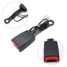 Universal carro safaty cinto rolha extensores de cinto de segurança automático com cabo de advertência & assentos automóvel cintos plug interior acessórios peças