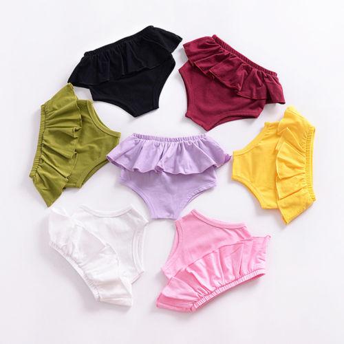 Newborn Baby Boy Girls Panties Bottoms Toddler Kids Bloomer Diaper Cover Briefs