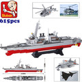 Sluban m38-b0390 destructor barco avión de flotilla enlighten building blocks ladrillos compatible con