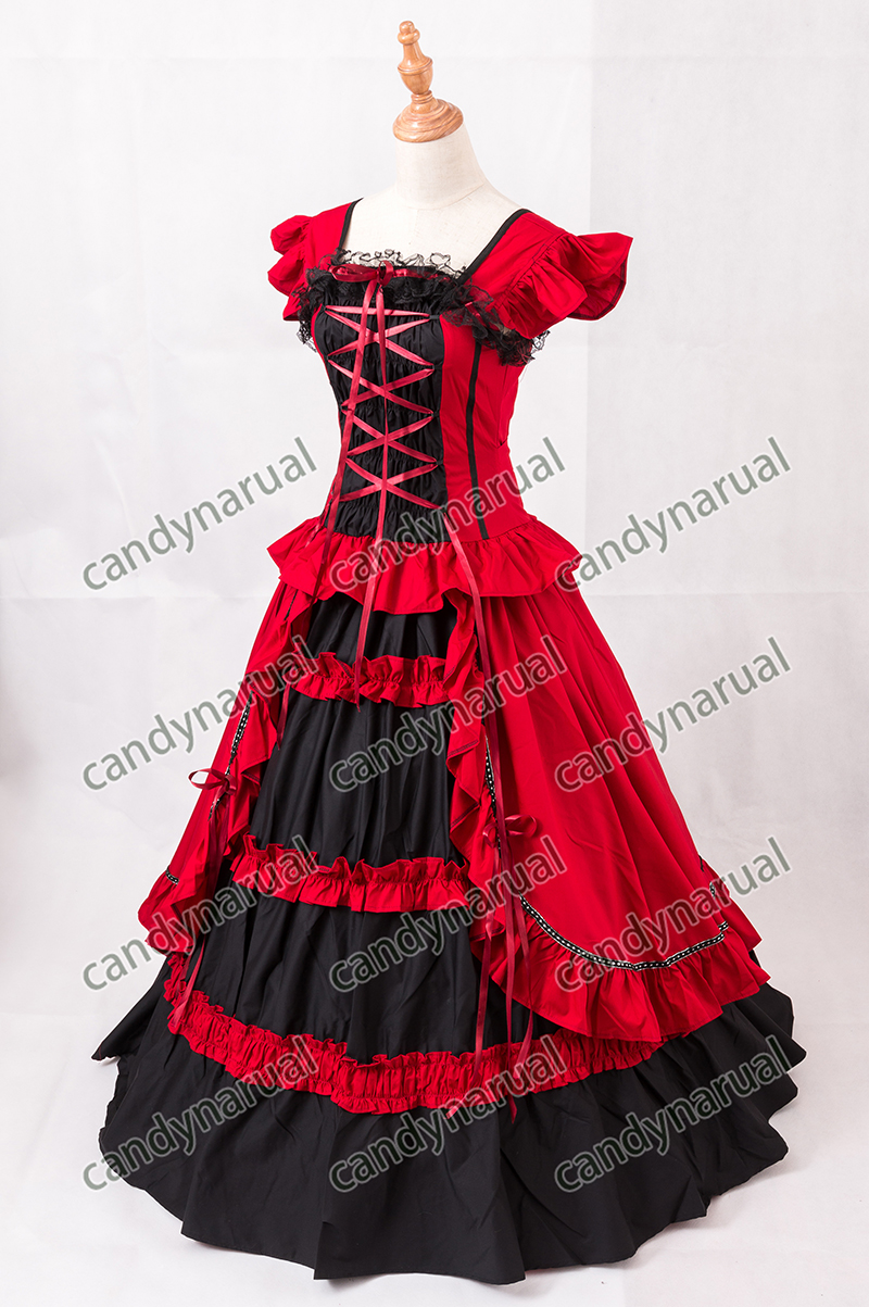 Fashion style Red dress lolita pictures for girls