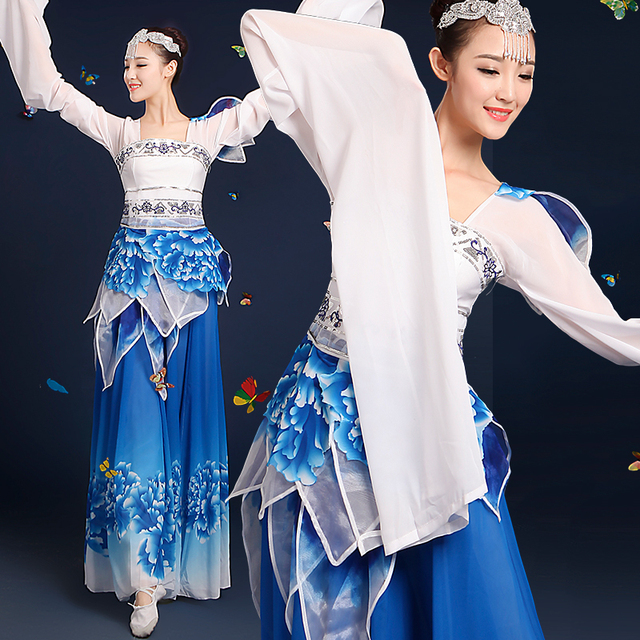 e54b54933b1d 2016 Winter New Water Sleeve Dance Clothes Classical Dance Costume Stage  Solo Performances Performance Female Chinese Sc 1 St AliExpress.com
