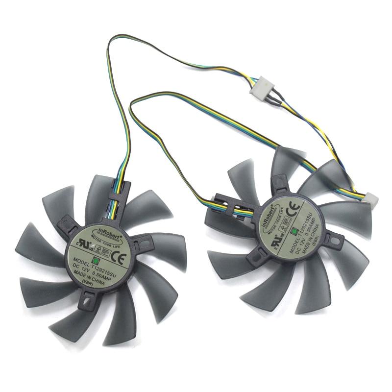 2 pçs/lote NOVO 85mm T129215SU 4Pin Fã RX470 470D Refrigerador de Ventoinha DC 12 V Substituir Para XFX RX470 470D RX480 RX290 RX380 RX380x RX390 X