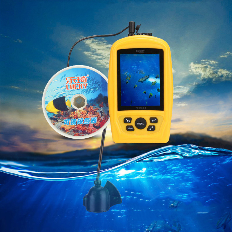 Lucky Portable Underwater Fishing Camera Fish Finder 40m Depth Sonar Sounder Alarm Transducer Fishfinder with Colorful
