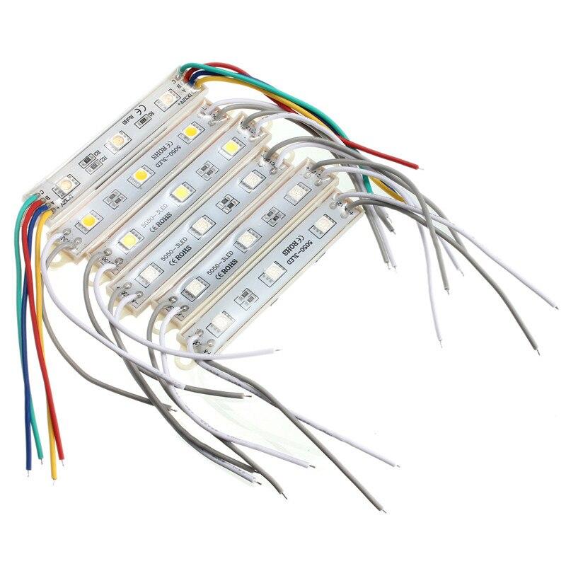 Waterproof IP68 Multicolors 3 font b LED b font Module 12V DC font b String b