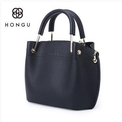 HONGU 2018 new leather handbags bag atmosphere simple commuter shoulder bag shell Messenger bag % jialante 2017 new lizard leather bag is made of simple small shell bag customized for 15 days