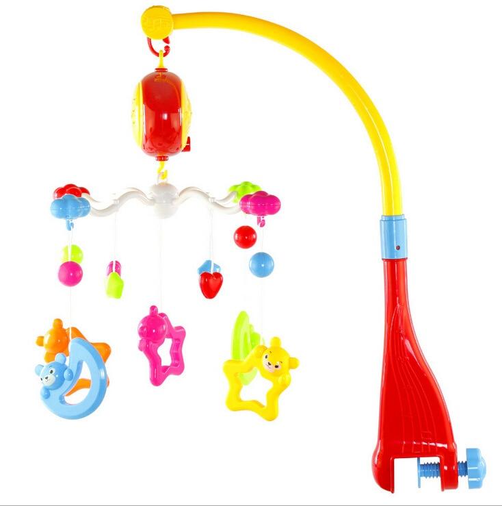 Детская игрушка для новорожденных кровать колокольчик лет висит 360 градусов вращения с музыкой детские игрушки образовательный музыкальны... - 2