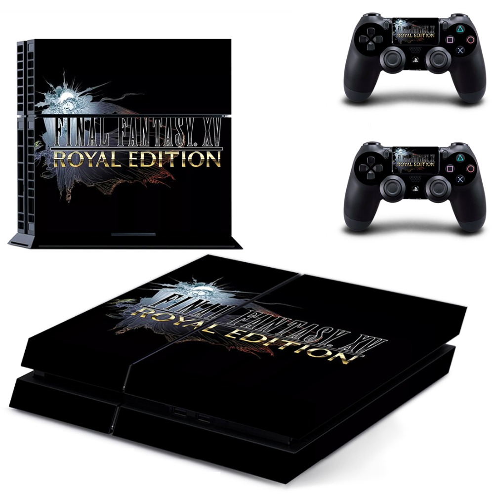 Final Fantasy XV Royal Edition PS4 Skin Sticker Decal For Sony PlayStation 4 Console and 2 Controllers PS4 Skins Stickers Vinyl