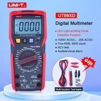 UNI T UT89XD TRMS digital multimeter tester ac dc Voltmeter Ammeter Capacitance Frequency Resistance tester with LED testing