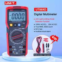 UNI-T UT89XD TRMS digitale multimetro tester ac dc Voltmetro Amperometro Capacità Frequenza tester di Resistenza con test LED
