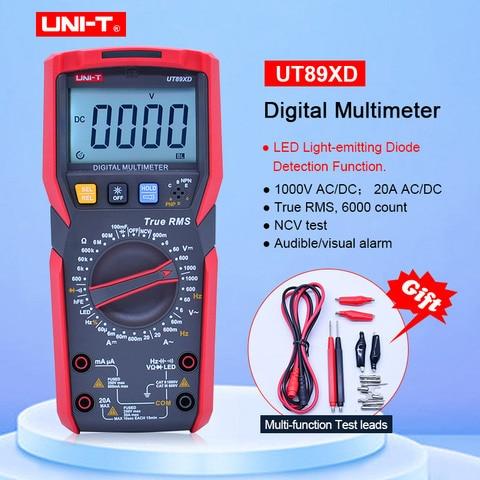 Amperímetro Tester Resistência Capacitância Frequency com Led Uni-t Ut89xd Trms Multímetro Digital Tester ac dc Voltímetro