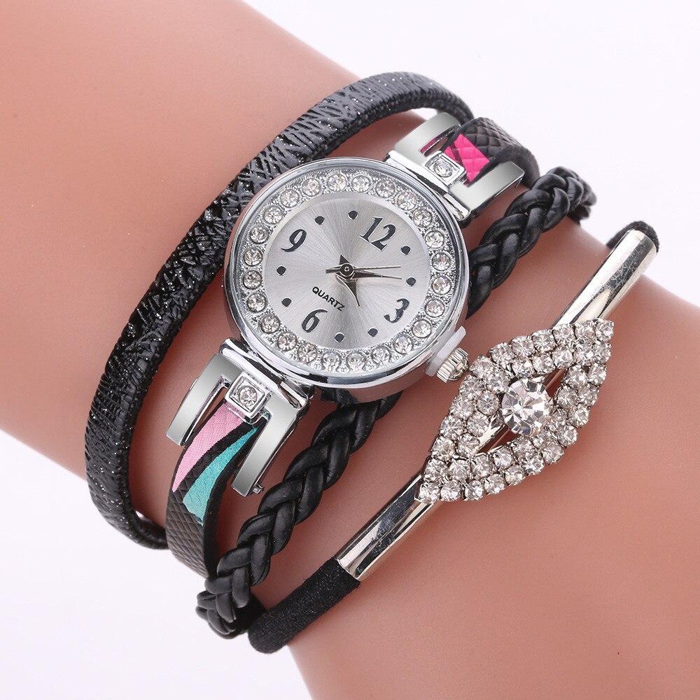 Dress Watch Diamond Vintage Women Girls Ladies Fashion Jewelry Watches Bracelet Wristband NEW Orologio Donna Zegarek Damski *A