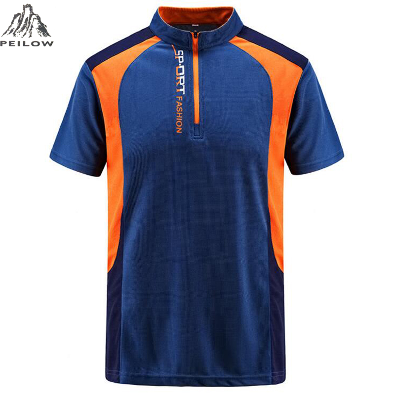 PEILOW big size L~7XL,8XL Brand clothing Men   Polo   Shirt Men Quick-drying sporting   polo   shirt Short Sleeve breathable   polo   shirt