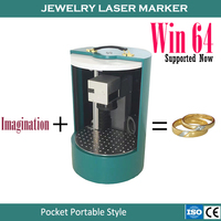 20W Mini Potable Separation Style Fiber Optical Laser Marking Machine For Easy Jewelry Rings Working Area