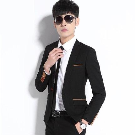 Offre spéciale mode hommes noir Blazers veste Slim Fit dernier manteau Design marque jolie pochette mâle Terno Masculino grande taille 3XL