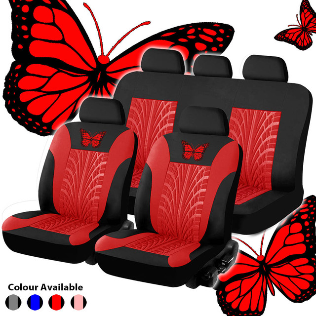 Universal Fashion Styling Full Set Butterfly Car Seat Protector Auto Interior Accessories Automotive Cover