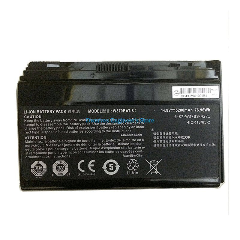 Image 3 - Genuine CLEVO W370BAT 8 Battery For Clevo P177SM A W350ET W350ETQ W350ST W370 W370BAT 8 Battery 6 87 W370S 4271 5200mAh 76.96Wh-in Laptop Batteries from Computer & Office
