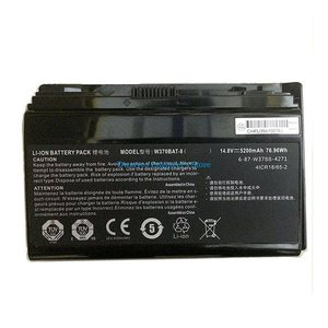 Image 3 - Genuine W370BAT 8 laptop Battery For Clevo P177SM A W350ET W350ETQ W350ST W370 W370BAT 8 Battery 6 87 W370S 4271 5200mAh 76.96Wh
