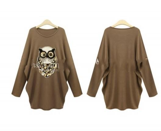 Flowing Owl Winter Fleece Sweater/Dress