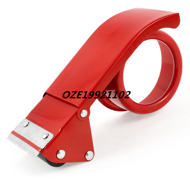 1PCS Sealing Packaging Metal 48mm Width 7cm Inner Dia Tape Cutter Dispenser Red fashionable red slender twill pattern 7cm width tie for men