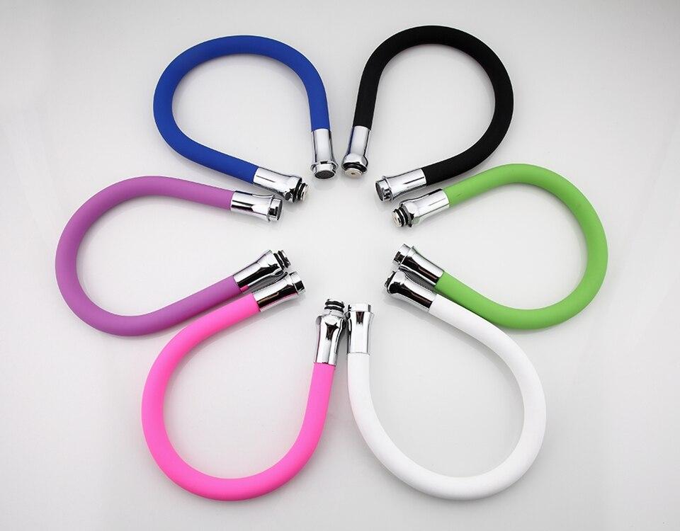 Frap многоцветная силиконовая трубка гибкий шланг все направления для кухонного крана 6 цветов Гибкая водопроводная труба
