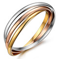 Fashion Stainless Steel Bangles For Women Multilayer 3 Color Plated Love Cuff Bracelets & Bangles Fashion Female Jewelry